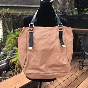 Cole Haan leather blush pink tote bag